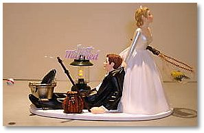 Fishing married life start as you mean to go on for Fishing themed cake toppers