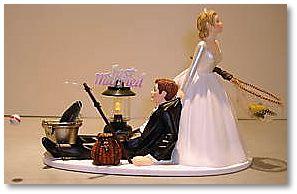 Fishing theme wedding cake topperswedding cake topperscake for Fishing themed cake toppers